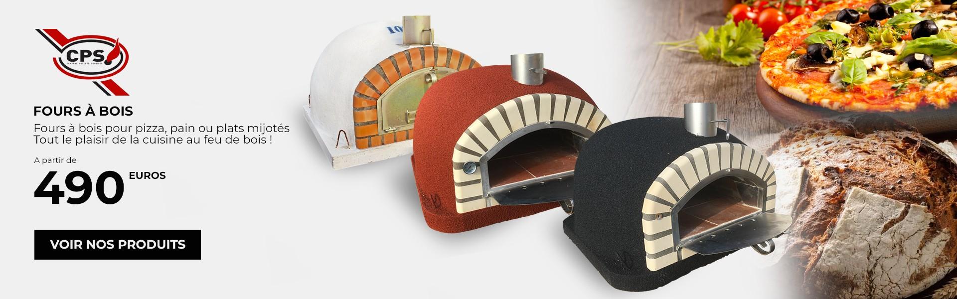 Four à bois, pour pizza et pain, plats gratinés